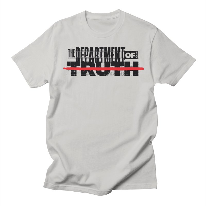 DEPARTMENT OF TRUTH 001 - LOGO BLACK Men's T-Shirt by Tiny Onion Studios Apparel