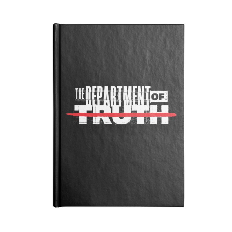 DEPARTMENT OF TRUTH 001 - LOGO WHITE Accessories Notebook by Tiny Onion Studios Apparel