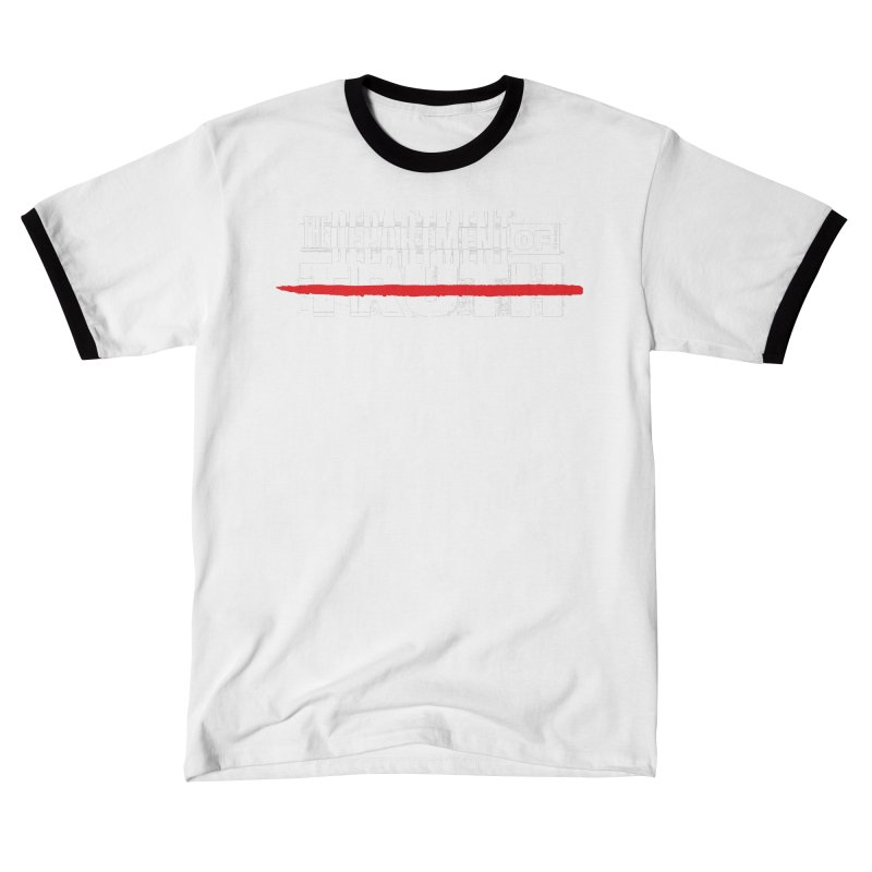 DEPARTMENT OF TRUTH 001 - LOGO WHITE Men's T-Shirt by Tiny Onion Studios Apparel