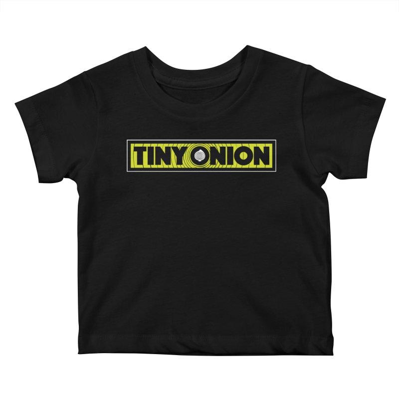 TINY ONION 001 - LOGO Kids Baby T-Shirt by Tiny Onion Studios Apparel