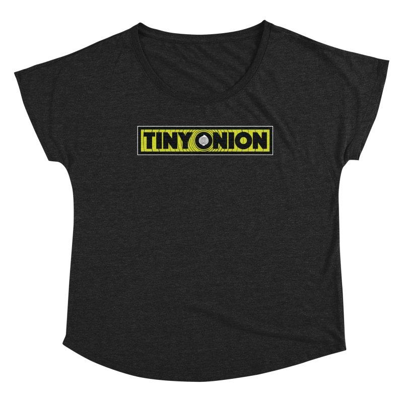 TINY ONION 001 - LOGO Women's Scoop Neck by Tiny Onion Studios Apparel