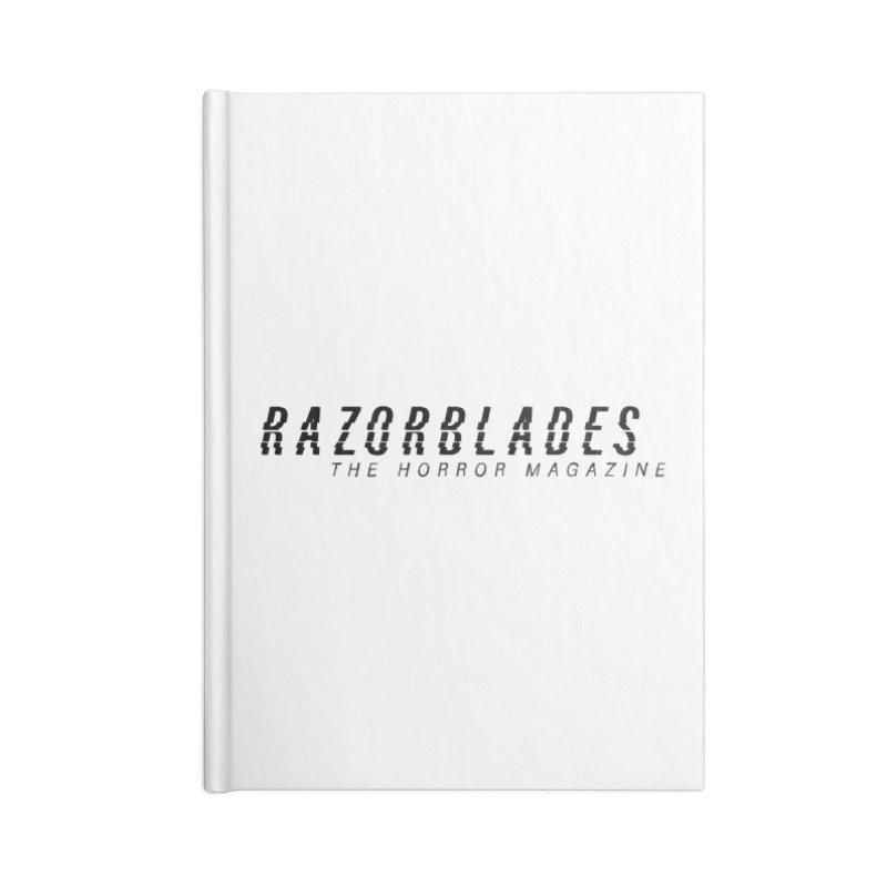 RAZORBLADES 001 - LOGO BLACK Accessories Notebook by Tiny Onion Studios Apparel
