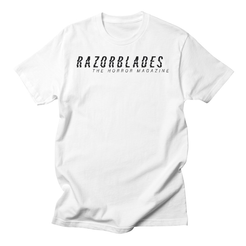 RAZORBLADES 001 - LOGO BLACK Men's T-Shirt by Tiny Onion Studios Apparel