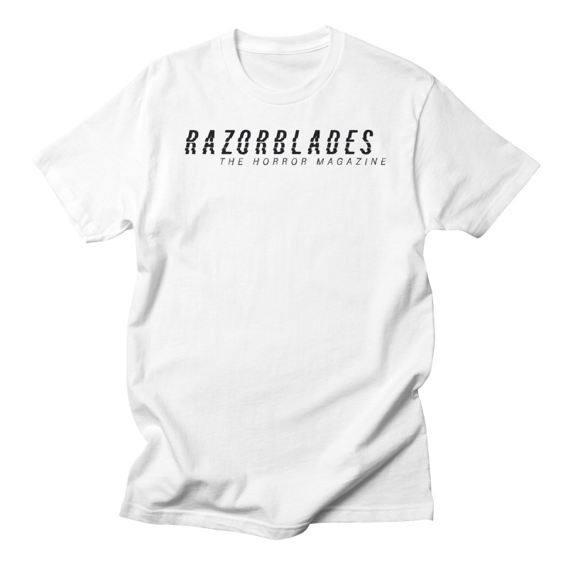 RAZORBLADES 001 - LOGO BLACK Men's T-Shirt by Tiny Onion Studios Apparel