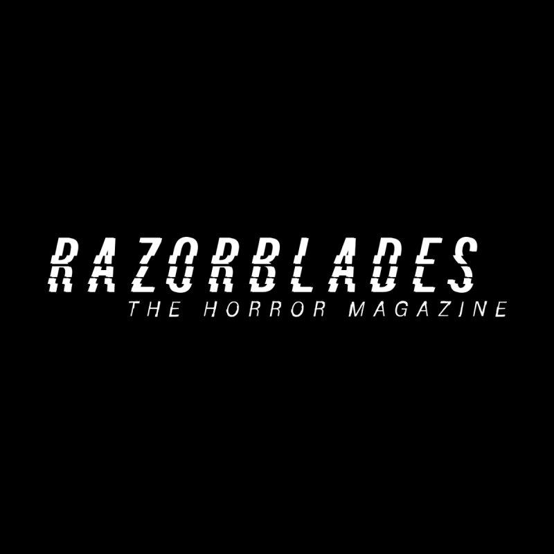 RAZORBLADES 001 - LOGO WHITE Men's T-Shirt by Tiny Onion Studios Apparel