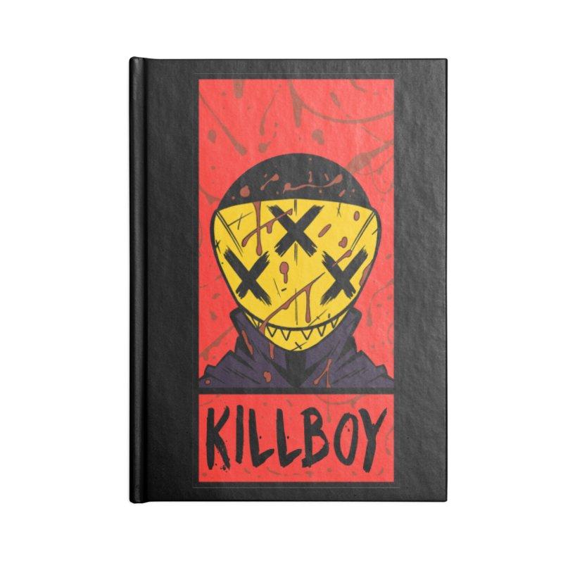 KILLBOY 001 - CORNERBOX RED Accessories Notebook by Tiny Onion Studios Apparel