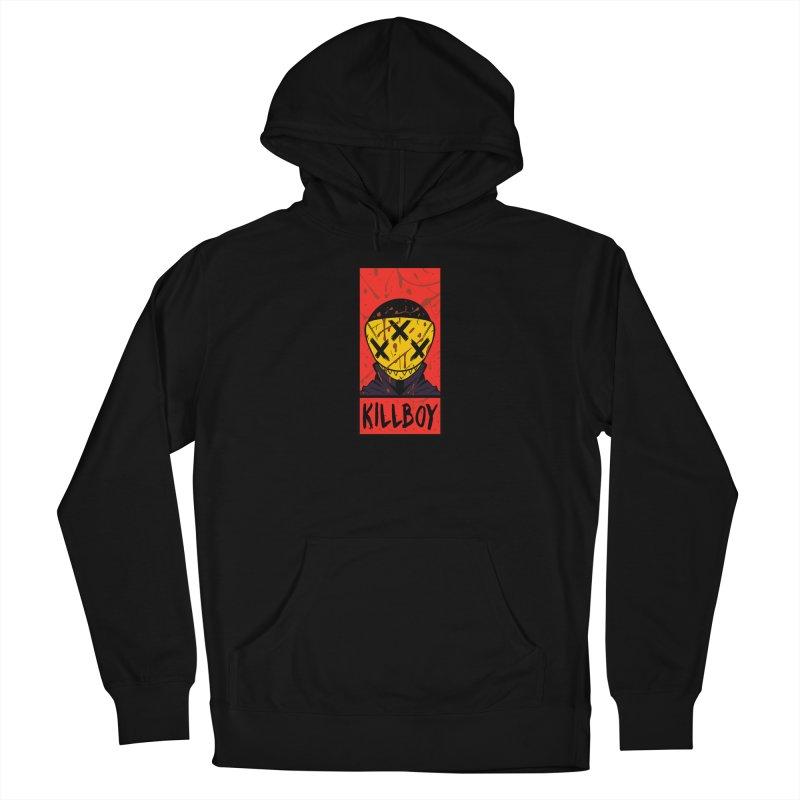 KILLBOY 001 - CORNERBOX RED Women's Pullover Hoody by Tiny Onion Studios Apparel