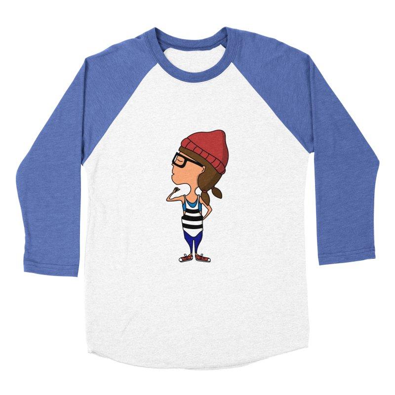 Hipster Jane Workout Men's Baseball Triblend T-Shirt by TinyT's Artist Shop