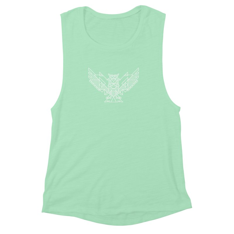 The Eagle Women's Muscle Tank by TipTop's Artist Shop