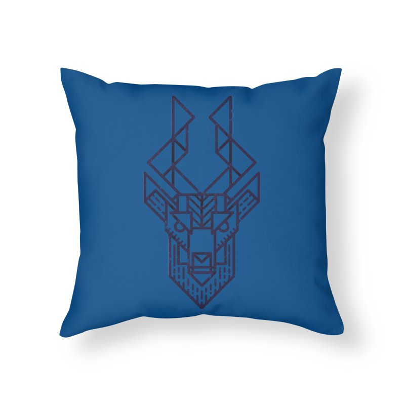 Mystic Stag Home Throw Pillow by TipTop's Artist Shop
