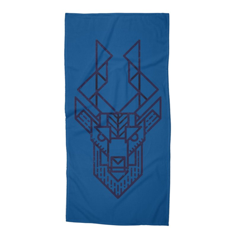 Mystic Stag Accessories Beach Towel by TipTop's Artist Shop