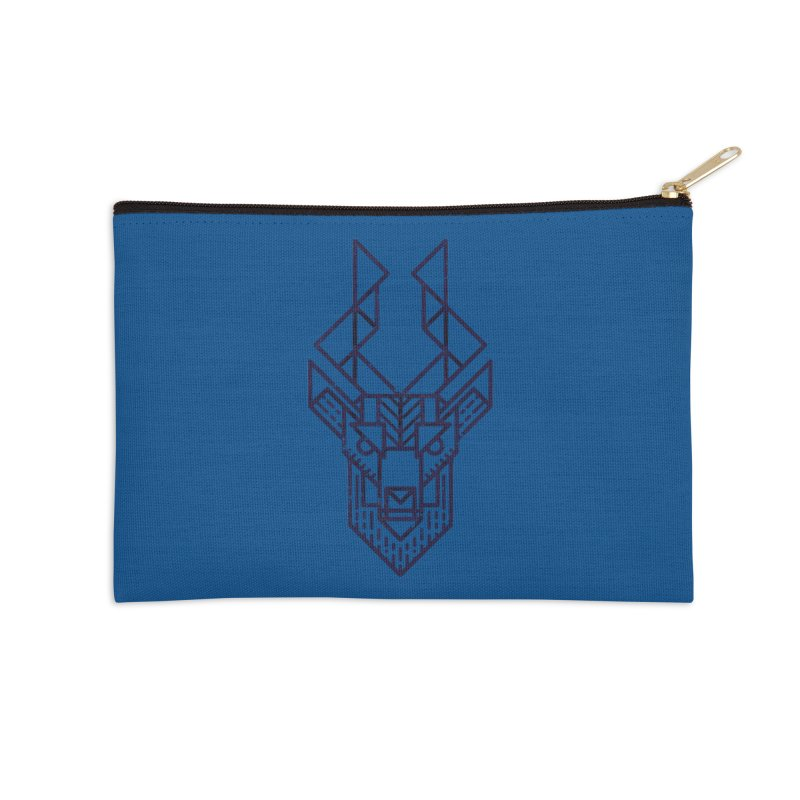 Mystic Stag Accessories Zip Pouch by TipTop's Artist Shop