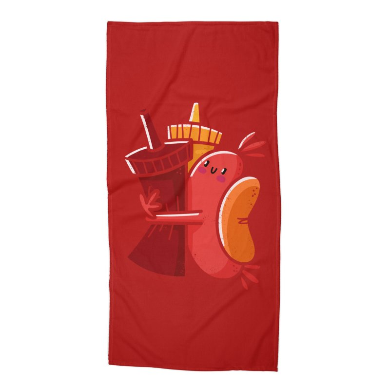 Condimentary Accessories Beach Towel by TipTop's Artist Shop