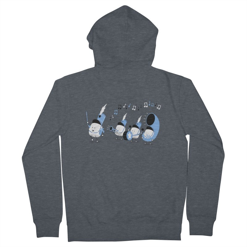 Marchmallow Band Men's Zip-Up Hoody by TipTop's Artist Shop