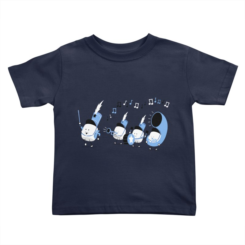 Marchmallow Band in Kids Toddler T-Shirt Navy by TipTop's Artist Shop