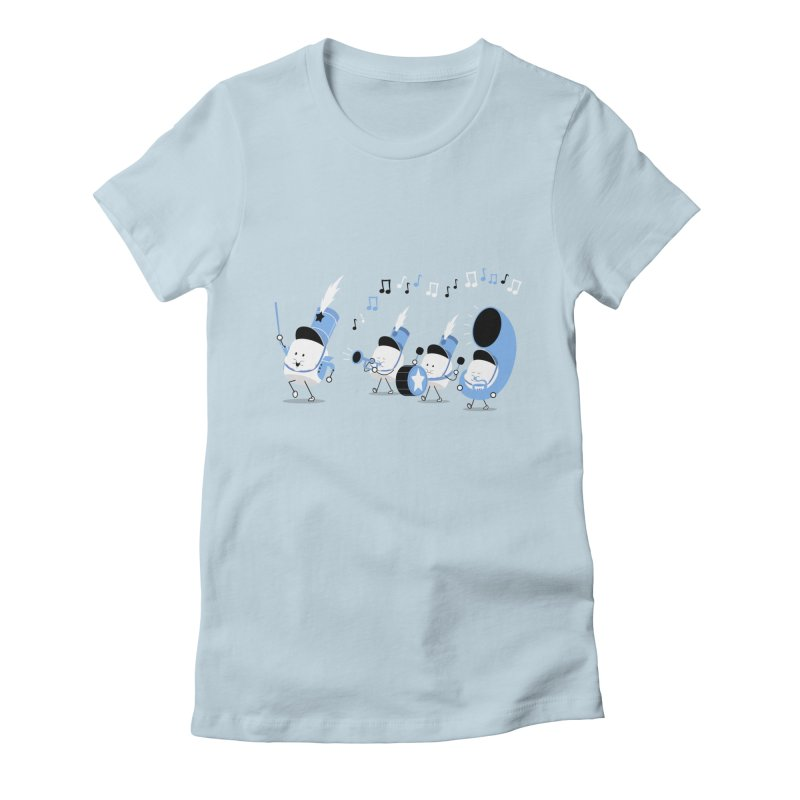 Marchmallow Band Women's Fitted T-Shirt by TipTop's Artist Shop
