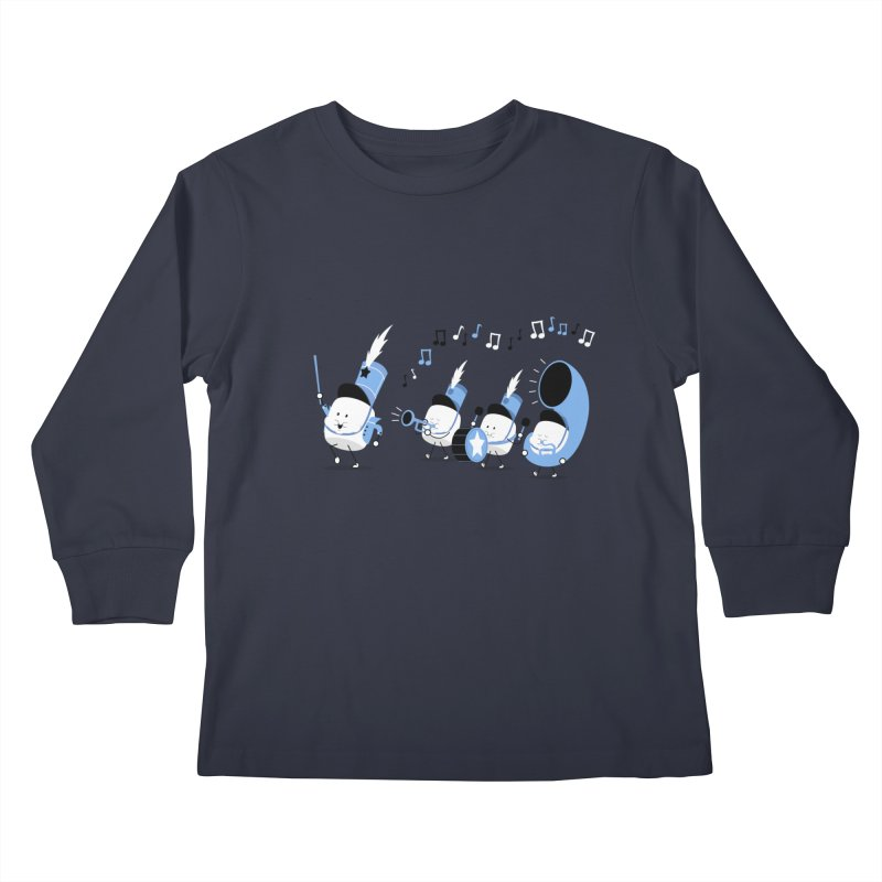Marchmallow Band Kids Longsleeve T-Shirt by TipTop's Artist Shop