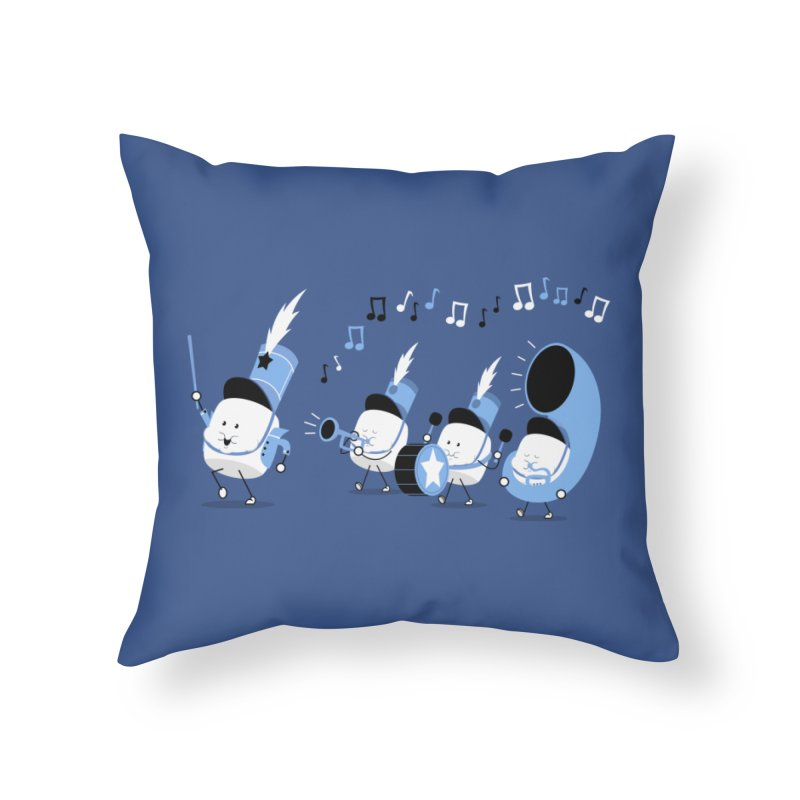 Marchmallow Band Home Throw Pillow by TipTop's Artist Shop