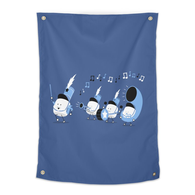 Marchmallow Band Home Tapestry by TipTop's Artist Shop