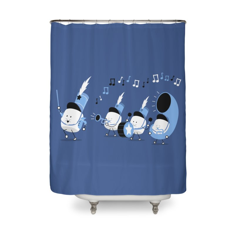 Marchmallow Band Home Shower Curtain by TipTop's Artist Shop