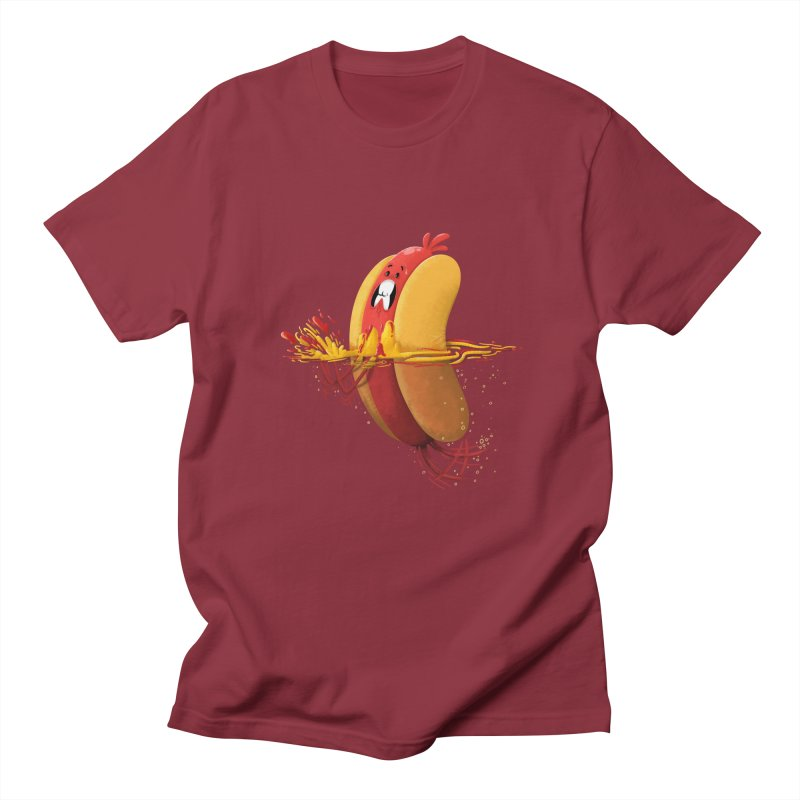 Hotdoggy Paddle Men's T-shirt by TipTop's Artist Shop