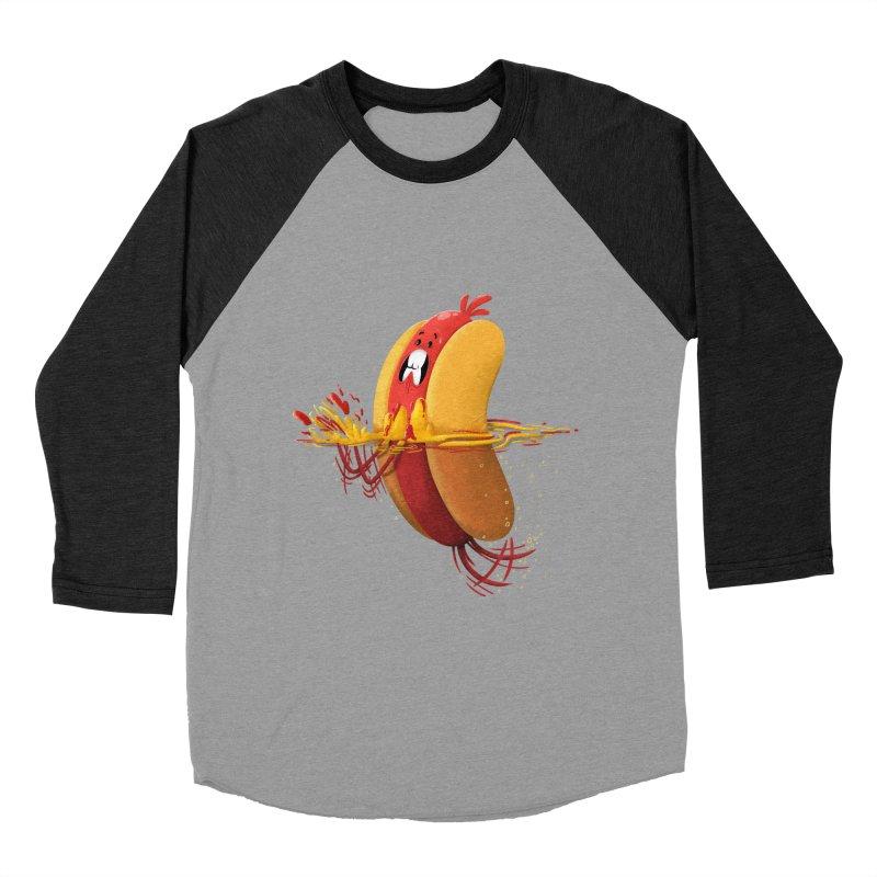 Hotdoggy Paddle Men's Baseball Triblend T-Shirt by TipTop's Artist Shop