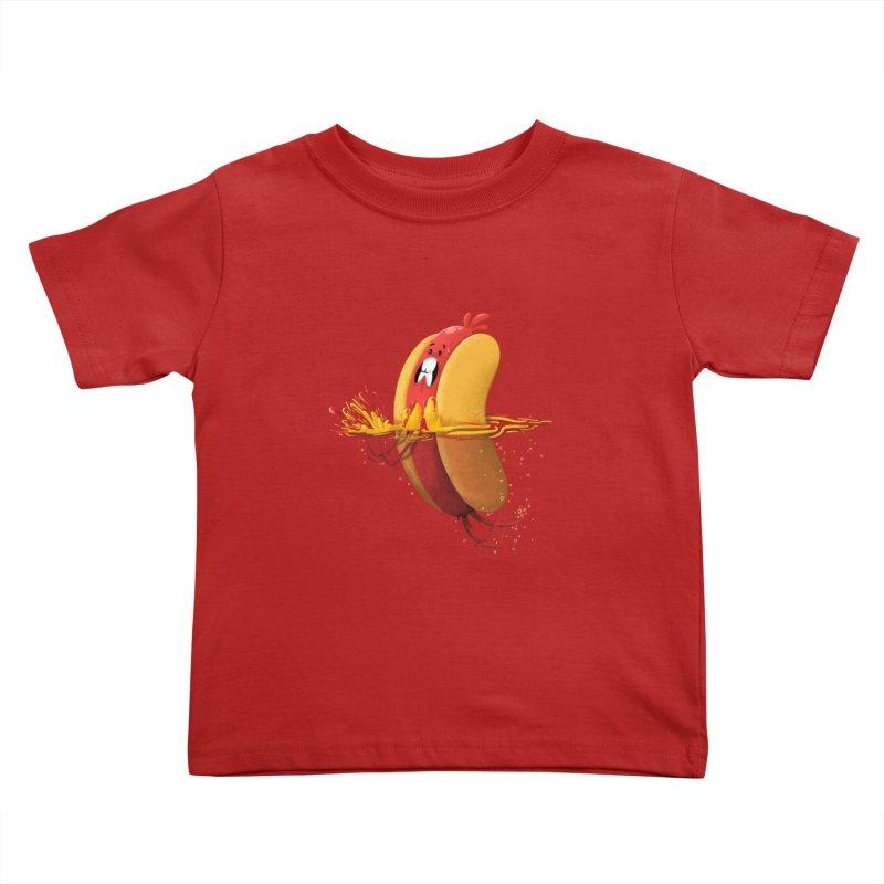 Hotdoggy Paddle Kids Toddler T-Shirt by TipTop's Artist Shop