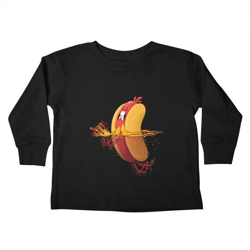 Hotdoggy Paddle Kids Toddler Longsleeve T-Shirt by TipTop's Artist Shop