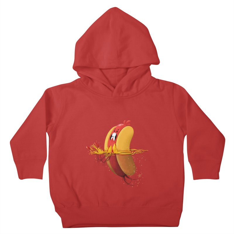 Hotdoggy Paddle Kids Toddler Pullover Hoody by TipTop's Artist Shop