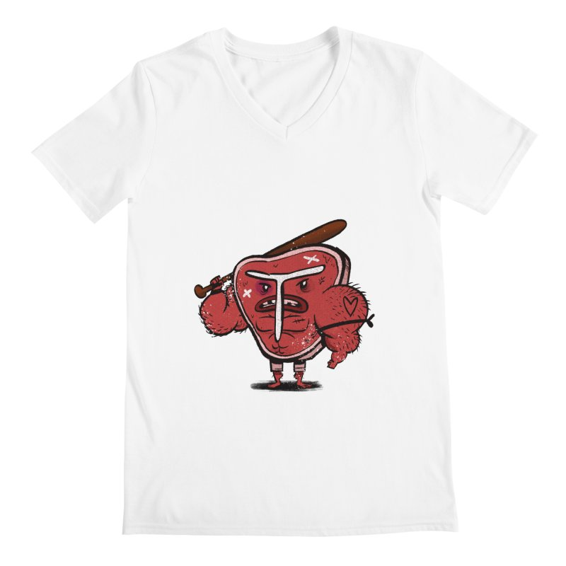 Tough Steak Men's V-Neck by TipTop's Artist Shop