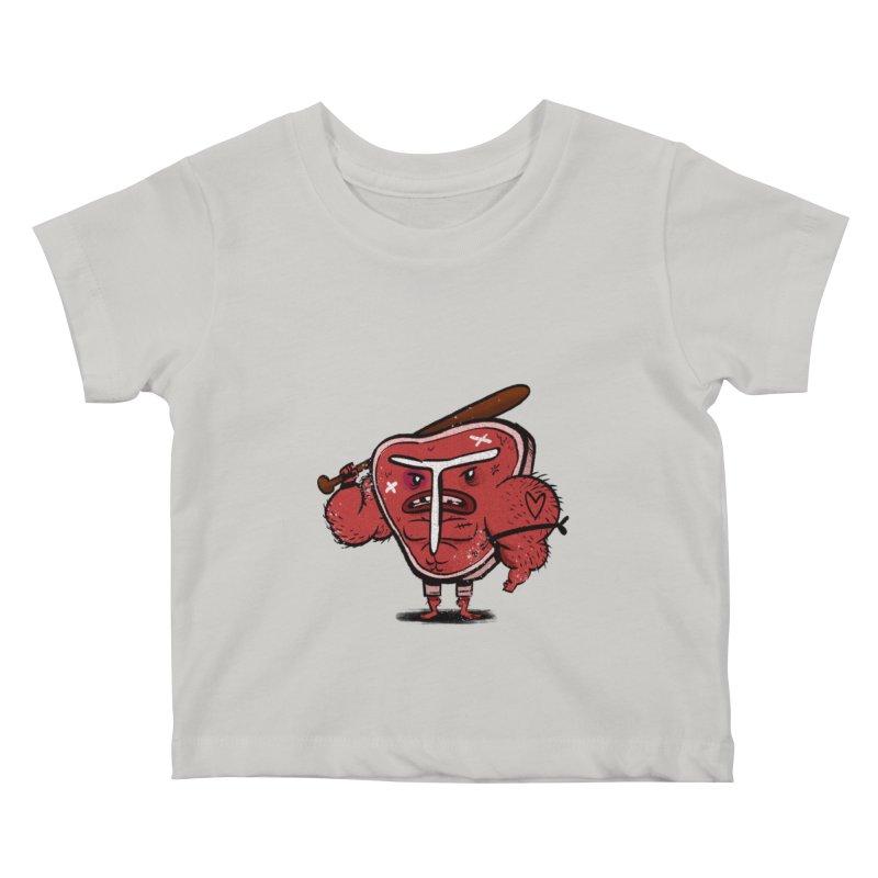 Tough Steak Kids Baby T-Shirt by TipTop's Artist Shop