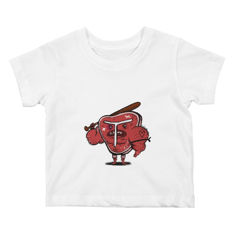 Tough Steak Kids Baby T-Shirt by TipTop's Artist Shop