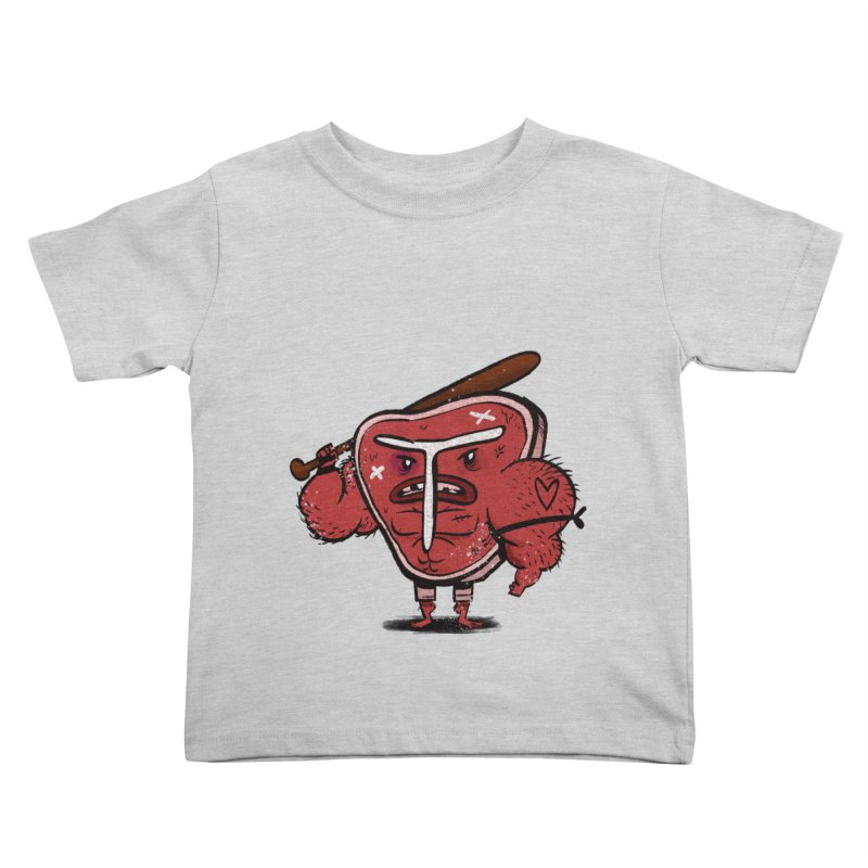 Tough Steak Kids Toddler T-Shirt by TipTop's Artist Shop