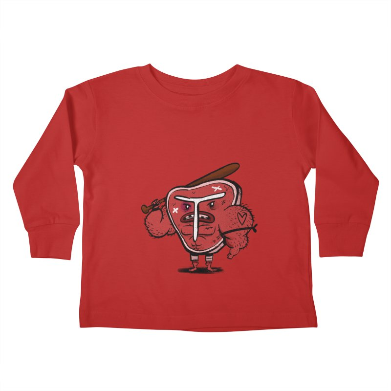 Tough Steak Kids Toddler Longsleeve T-Shirt by TipTop's Artist Shop