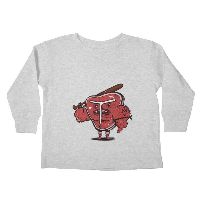 Tough Steak Kids Toddler Longsleeve T-Shirt by TipTop's Artist Shop