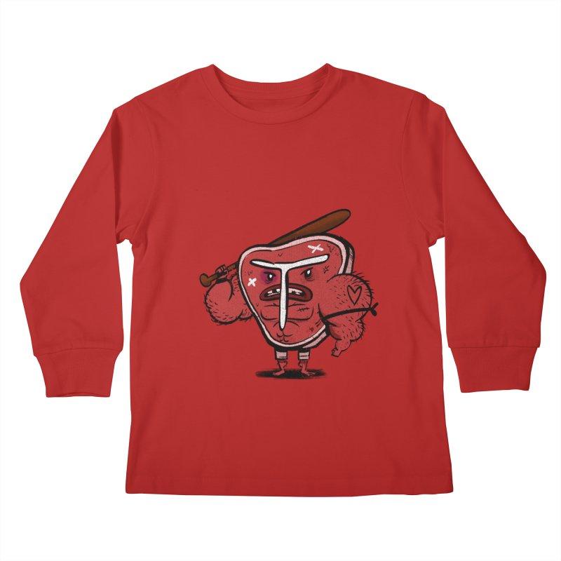 Tough Steak Kids Longsleeve T-Shirt by TipTop's Artist Shop