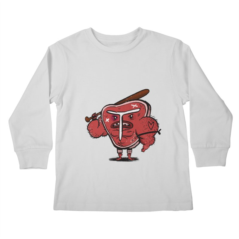 Tough Steak Kids Longsleeve T-Shirt by TipTop's Artist Shop