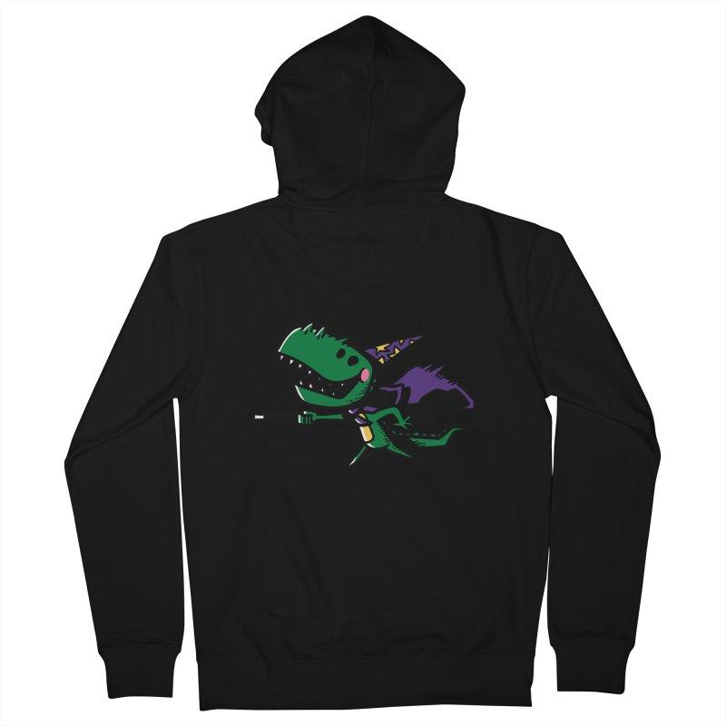 Dino Wizard Men's Zip-Up Hoody by TipTop's Artist Shop
