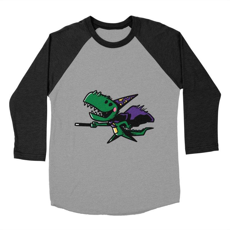 Dino Wizard Men's Baseball Triblend T-Shirt by TipTop's Artist Shop