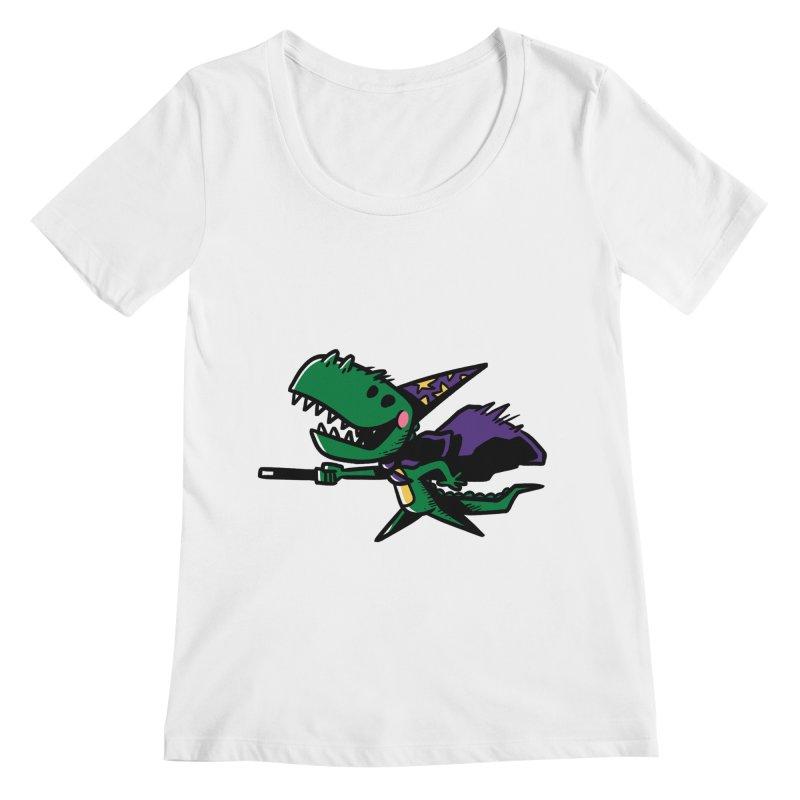 Dino Wizard Women's Scoopneck by TipTop's Artist Shop
