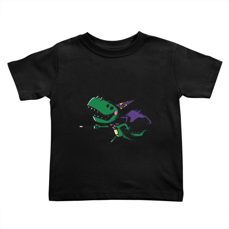 Dino Wizard Kids Toddler T-Shirt by TipTop's Artist Shop