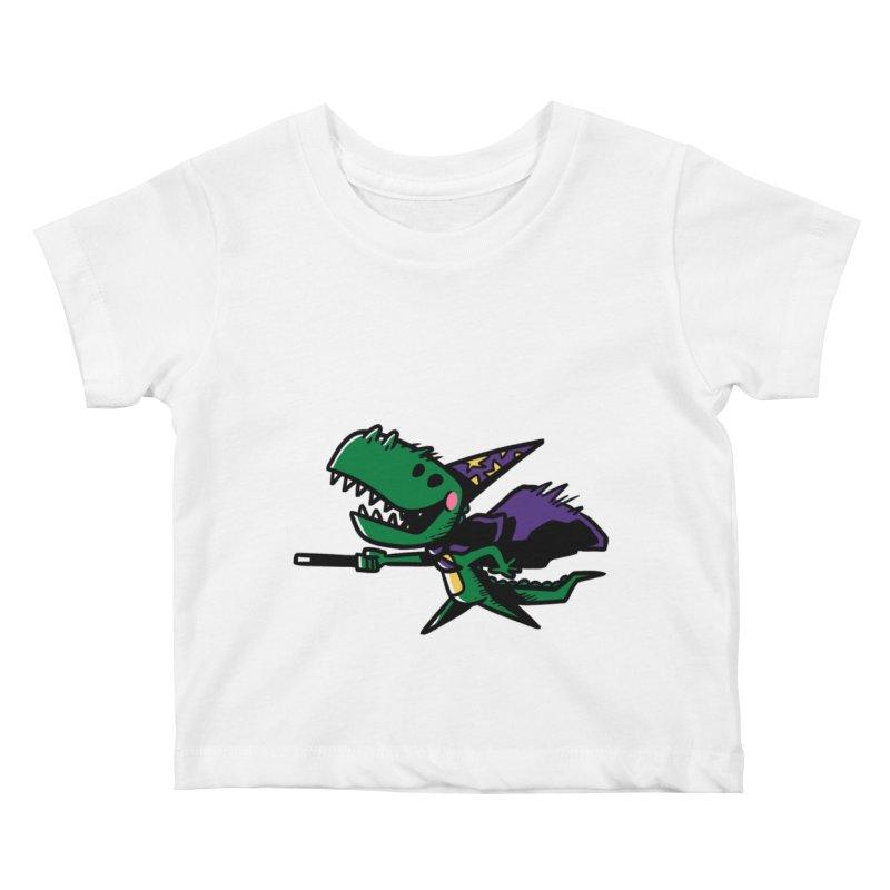 Dino Wizard Kids Baby T-Shirt by TipTop's Artist Shop