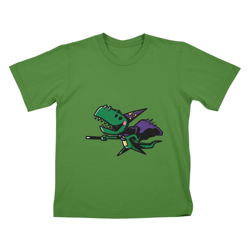 Dino Wizard Kids T-shirt by TipTop's Artist Shop