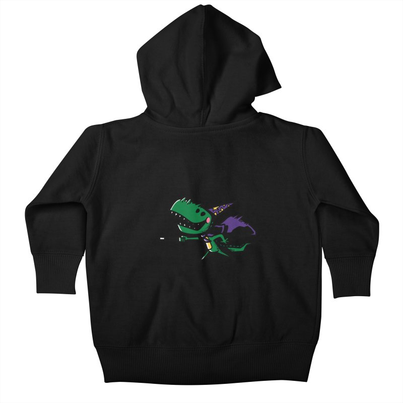 Dino Wizard Kids Baby Zip-Up Hoody by TipTop's Artist Shop