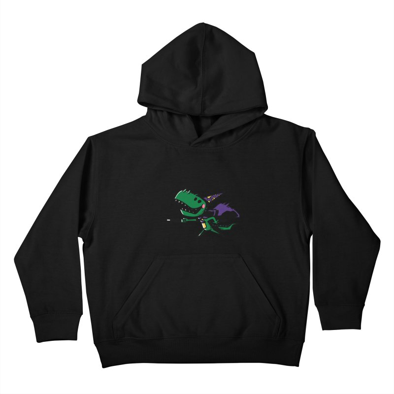 Dino Wizard Kids Pullover Hoody by TipTop's Artist Shop