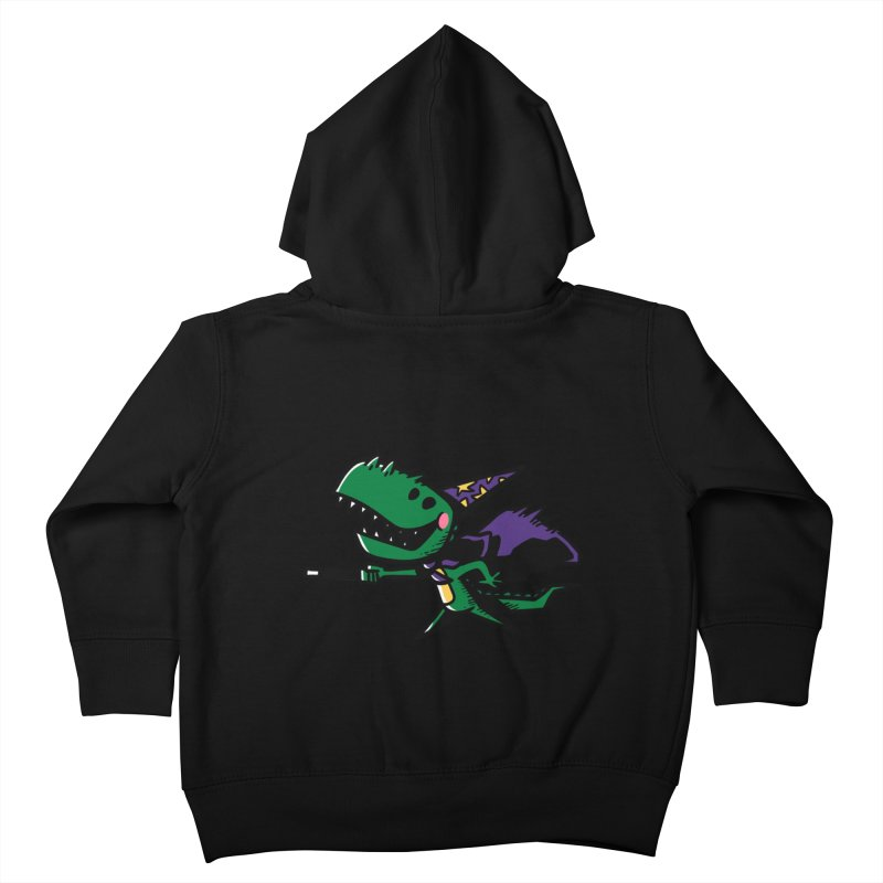 Dino Wizard Kids Toddler Zip-Up Hoody by TipTop's Artist Shop
