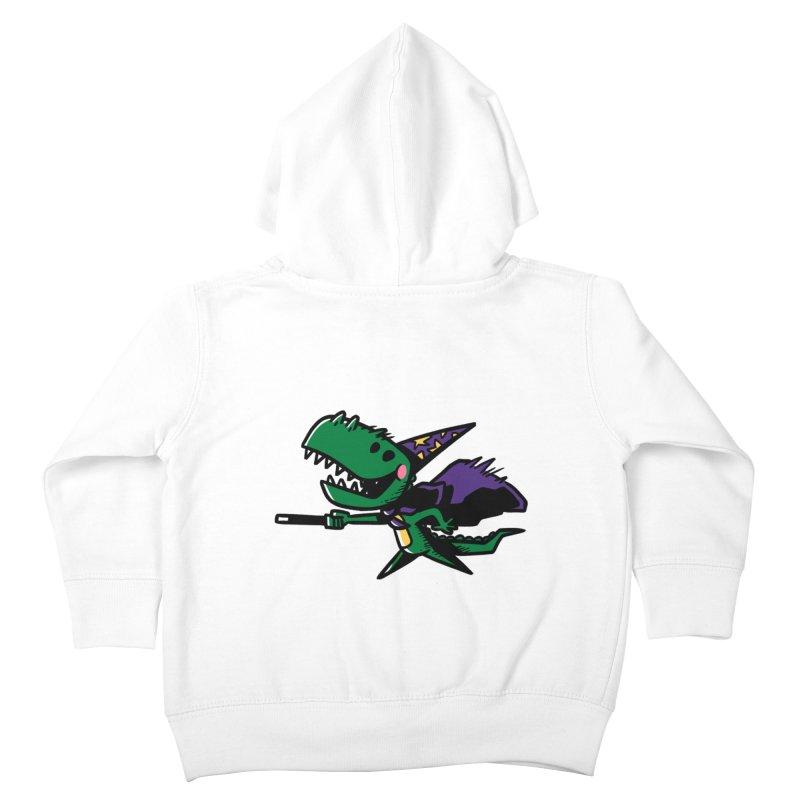 Dino Wizard Kids Toddler Zip-Up Hoody by TipTop's Artist Shop