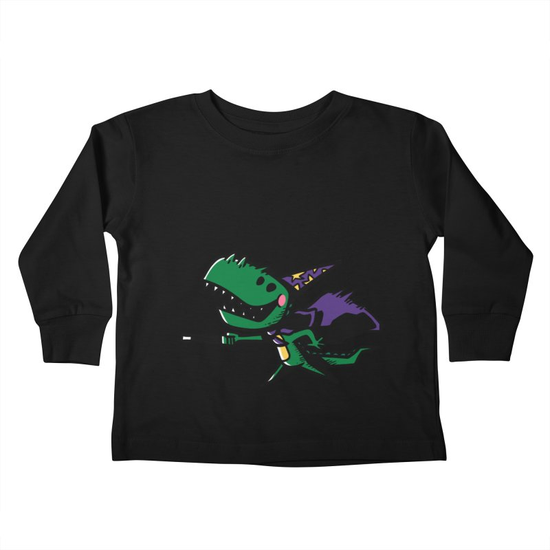 Dino Wizard Kids Toddler Longsleeve T-Shirt by TipTop's Artist Shop