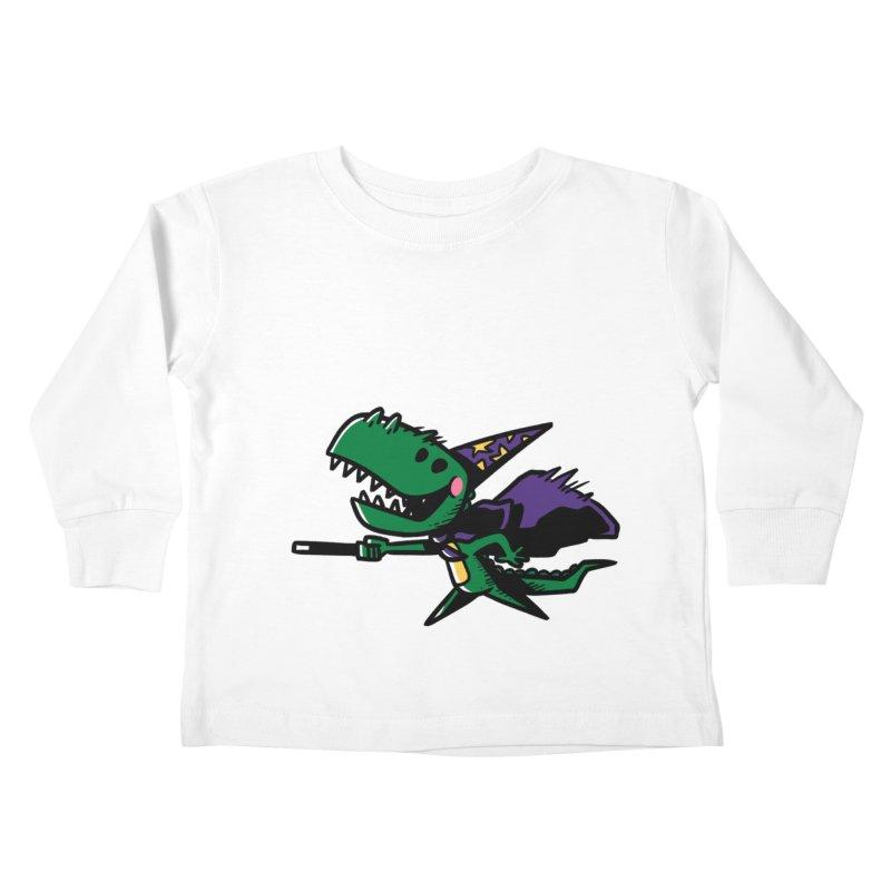 Dino Wizard Kids Toddler Longsleeve T-Shirt by TipTop's Artist Shop
