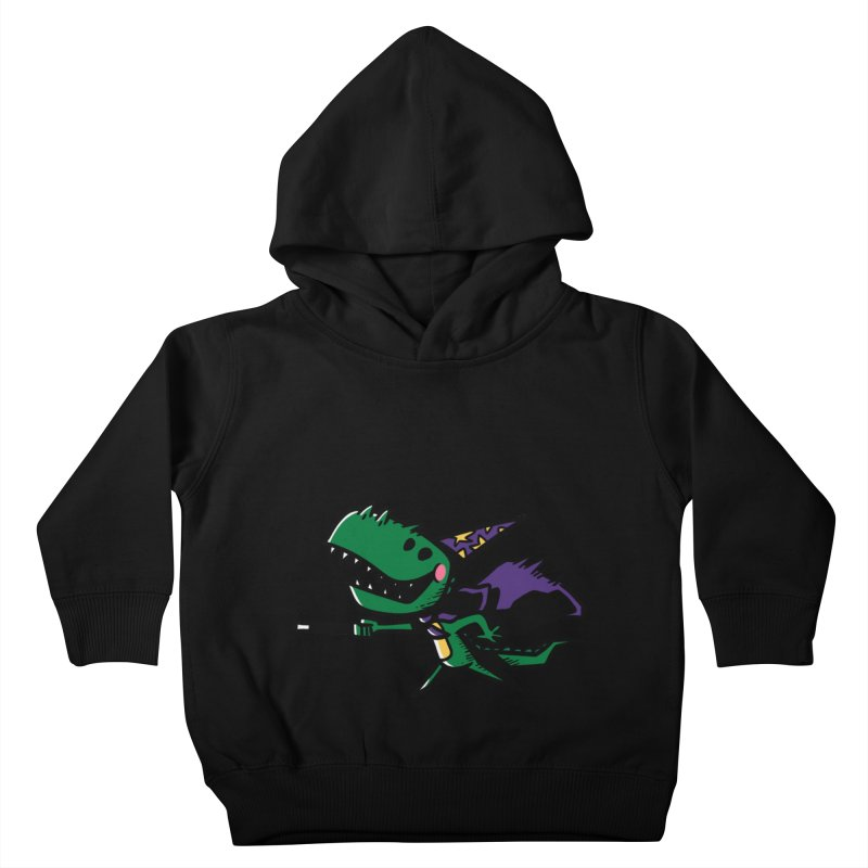 Dino Wizard Kids Toddler Pullover Hoody by TipTop's Artist Shop